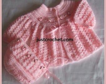 Coat and Bonnet Baby Crochet Pattern (DOWNLOAD) 35