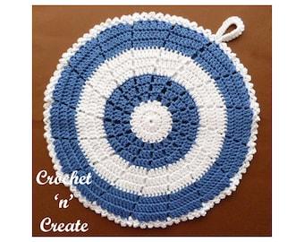 Crochet Doublesided Potholder Crochet Pattern (DOWNLOAD) CNC131
