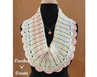 Chunky Cowl Crochet Pattern (DOWNLOAD) CNC55