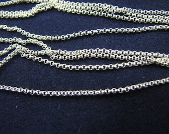 10 pcs Sterling Silver 24 inch  Rolo Chains 1.2mm Links Wholesale Silver Chains, Rolo Necklaces Long Chain for Layering FREE SHIPPING