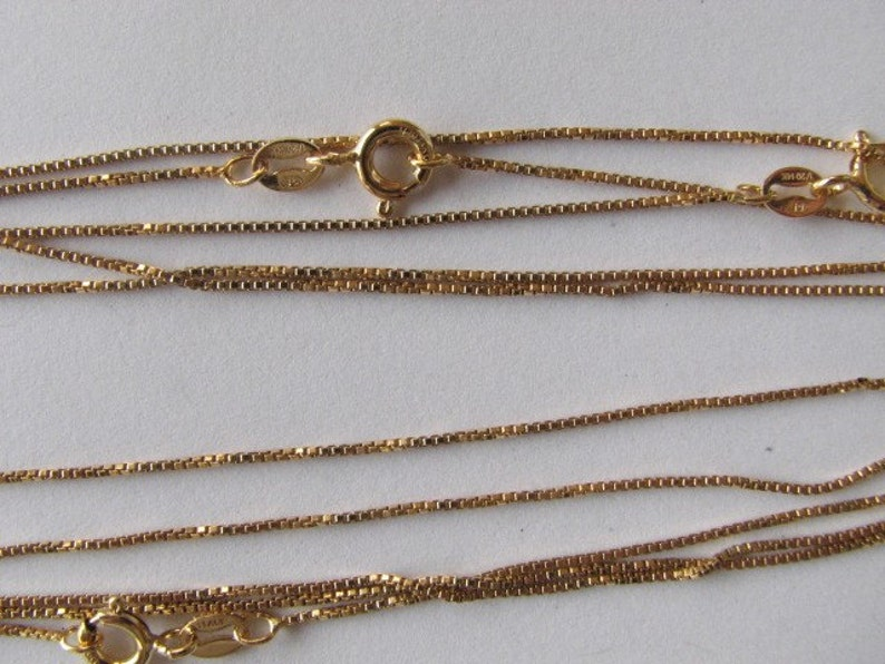 20 inch 6 pcs Gold Box Chains Combo 16 14K Goldfill chains Fine gold chains 18 Wholesale Lot