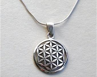 Original Sacred Flower of Life Necklace Sterling Silver