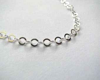 4mm Cable Link Chain Necklace 14 inch, Sterling Silver