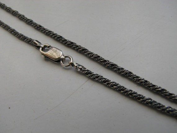 Solid 925 Antique Oxidized Sterling Silver 3mm Ball Chain Necklace 20 inch