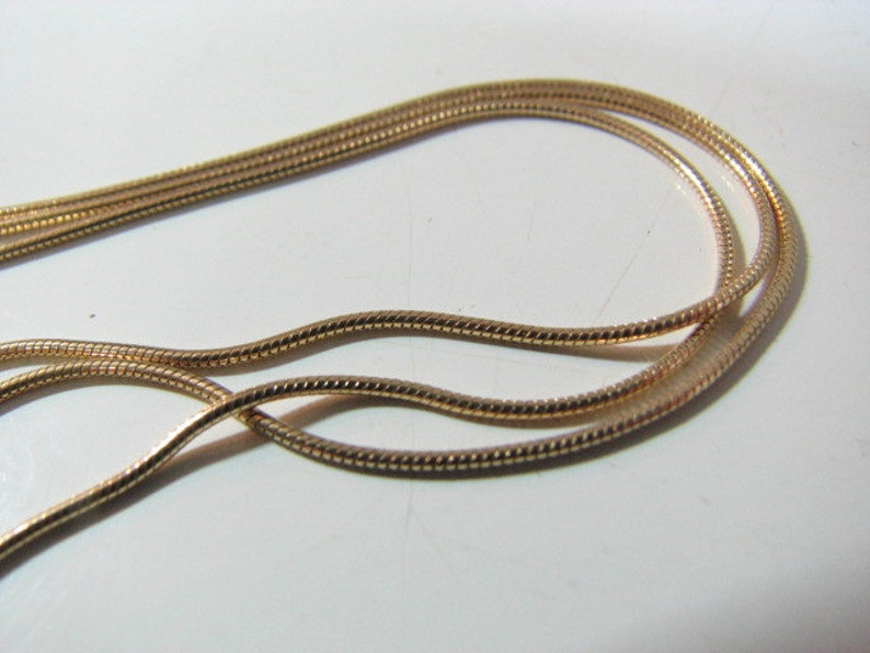 10 feet Bulk Gold Fill Snake Chain Unfinished on spool