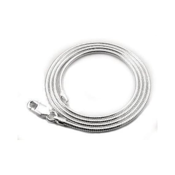7e49a9470c2 26 pouces en argent Sterling collier serpent avec fermoir