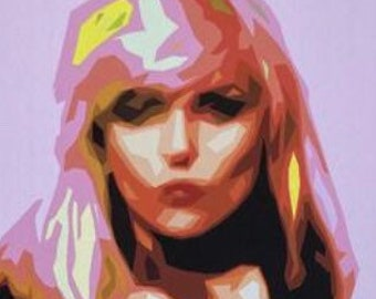 Debbie Harry Blondie 16x12 inch Modern Pop Art Framed Canvas Print