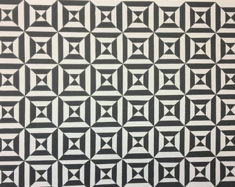 Original Framed Black and White Op Art Painting by Dominic Joyce