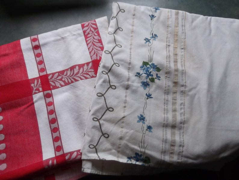 2 Vintage Tablecloths To Re Purpose Recycle Large Tablecloths