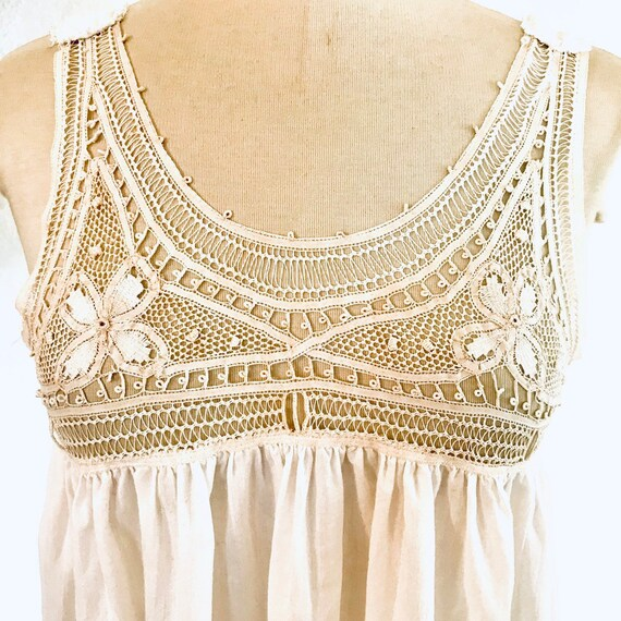 Antique Vintage Edwardian Lace Nightgown #875 - image 2