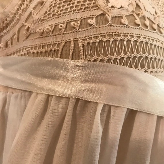 Antique Vintage Edwardian Lace Nightgown #875 - image 4
