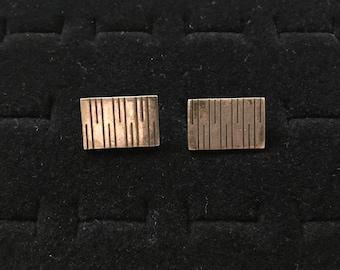 Vintage sterling cuff links