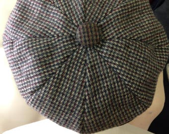 Dorfman Pacific newsboy cap Vintage 1960's 1970's shabby tweed cap