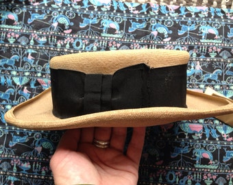 c217f57bc5664 Vintage Edwardian straw boater hat