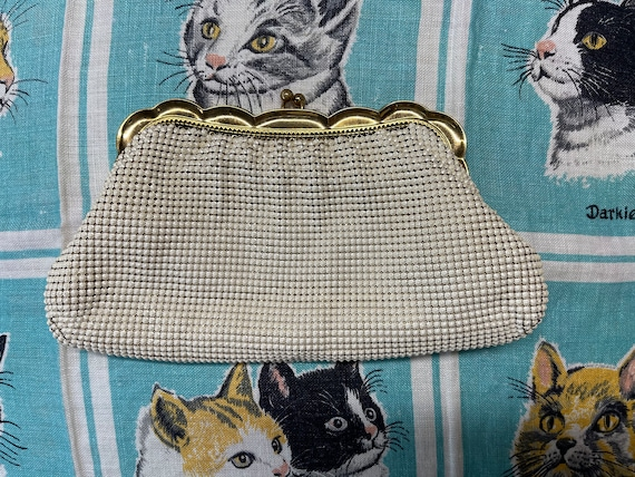 Whiting and Davis pearlescent mesh clutch. - image 2