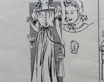 40's nitegown pattern. Mary Cullen's Cottage 3116. 34 bust.