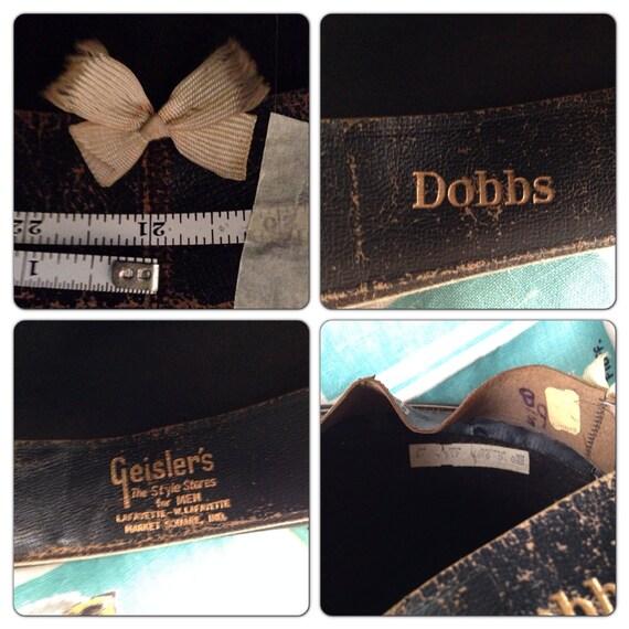 Années 1950 Dobbs Fedora marron Dobbs 1950 bonnet taille 6 5/8 21 pouces f3c98e