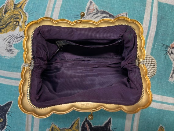 Whiting and Davis pearlescent mesh clutch. - image 5