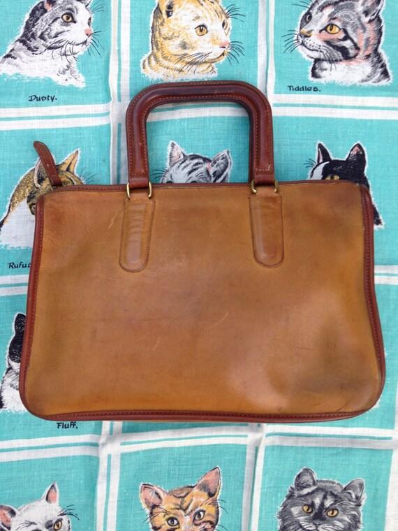 Vintage 1970's two tone Coach NYC handbag satchel