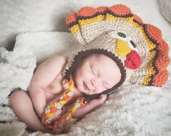 Crochet Turkey Hat Photo Prop
