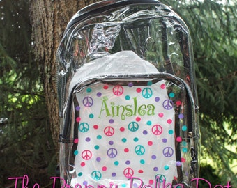 Personalized Clear Backpack Bookbag 2ae3fcdd0a41c
