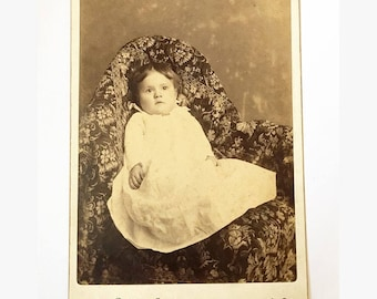 Antique Victorian cabinet card photo of baby boy from New York Gallery, Reading, PA