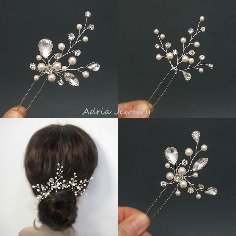 Matrimonio capelli Pins Set di 3 f5864b0d6836