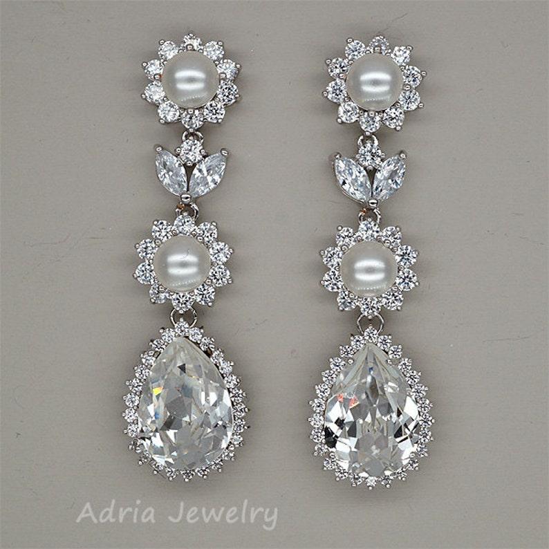 d46f93583de2 Cristal de Swarovski pendientes novia pendientes pendientes de