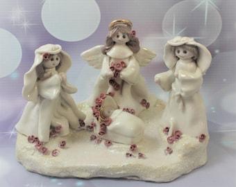 Nativity Handmade Porcelain Sculpture Clearance