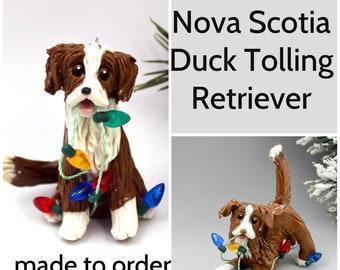 Nova Scotia Duck Tolling Retriever Porcelain Christmas Ornament Figurine Made to order