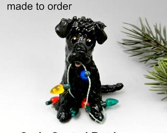 Curly Coated Retriever Porcelain Christmas Ornament Figurine Made to Order