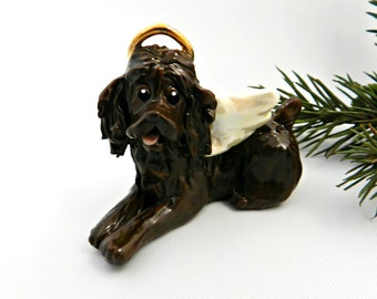 Boykin Spaniel Porcelain Christmas Ornament Figurine Angel
