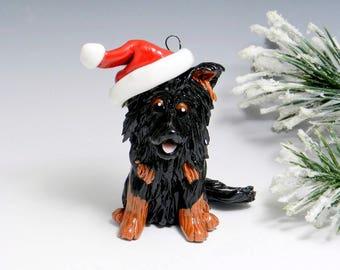 Belgian Tervuren Christmas Ornament Santa Hat Porcelain