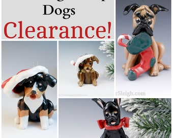 Working Group Dogs Christmas Ornaments Figurine Porcelain Clearance