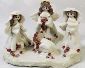 Nativity Handmade Porcelain Sculpture Clearance