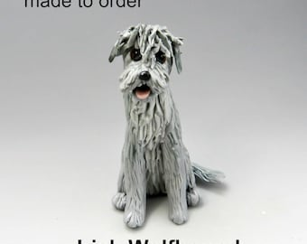 Irish Wolfhound Porcelain Christmas Ornament Figurine  Made to Order