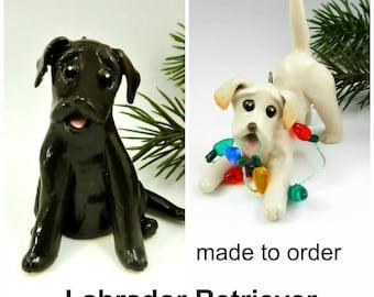 Labrador Retriever PORCELAIN Christmas Ornament Figurine Made to Order