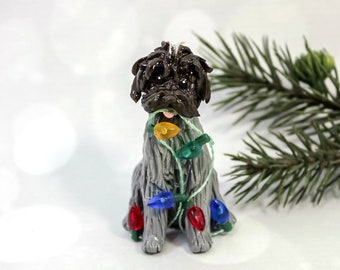 Wirehaired Pointing Griffon Porcelain Christmas Ornament