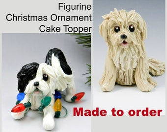 Havanese PORCELAIN Christmas Ornament Figurine Made to Order