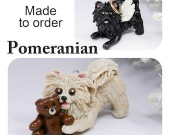 Pomeranian PORCELAIN Christmas Ornament Figurine Made to Order