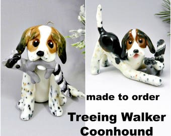 Treeing Walker Coonhound PORCELAIN Christmas Ornament Figurine Made to Order