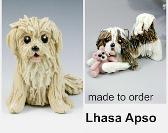 Lhasa Apso PORCELAIN Christmas Ornament Figurine Made to Order