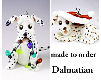 Dalmatian PORCELAIN Christmas Ornament Figurine Made to Order