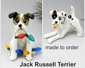 Jack Russell Terrier Porcelain Christmas Ornament Figurine Made to Order
