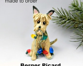 Berger Picard Porcelain Christmas Ornament Figurine Made to Order