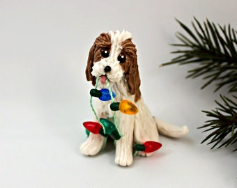 Petit Basset Griffon Vendeen PORCELAIN Christmas Ornament Figurine