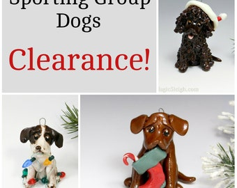 Sporting Group Christmas Ornaments Figurine Porcelain Clearance