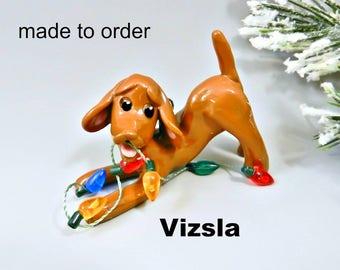 Vizsla Dog Porcelain Christmas Ornament or Figurine Made to Order