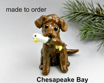 Chesapeake Bay Retriever PORCELAIN Christmas Ornament Figurine Made to Order