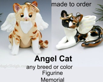 Angel Cat Breed or Color Christmas Ornament Figurine Memorial Porcelain